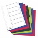 ELBA Jeu de 6 intercalaires polypropylène 3/10e format A4 opaque coloré