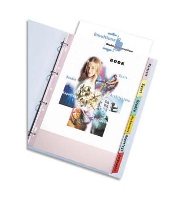 ELBA Jeu de pochettes intercalaires 6 positions à onglets PVC 9/100e. Format A4+