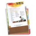 ELBA Jeu de pochettes intercalaires 12 positions à onglets en PVC 9/100e. Format A4+