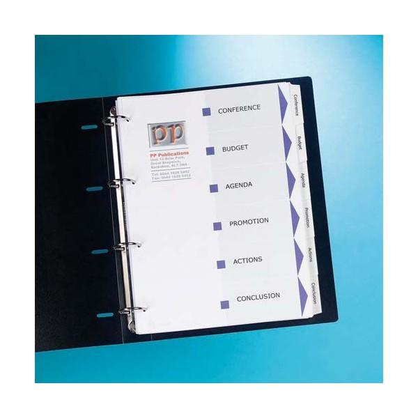 AVERY Jeu d'intercalaires 12 positions pour imprimante Index Maker. Format A4
