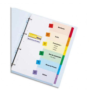 AVERY Jeu d'intercalaires numériques 12 positions, touches Mylar® pour imprimante Ready Index