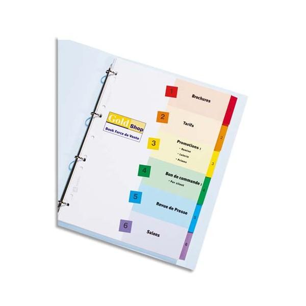AVERY Jeu d'intercalaires numériques 12 positions, touches Mylar® pour imprimante Ready