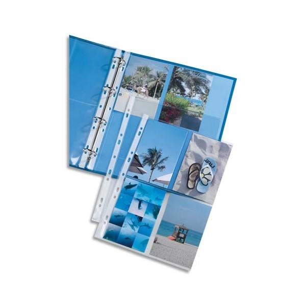 ELBA Sachet de 10 pochettes perforées pour 8 photos 10 x 15 cm, en polypropylène 9/100e,