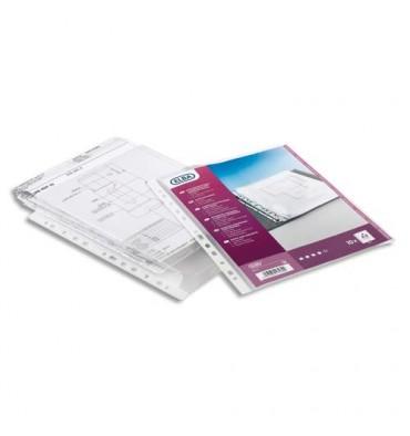 ELBA Sachet de 10 pochettes Plan à soufflets en polypropylène 20/100e