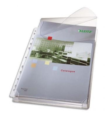 LEITZ Sachet de 5 pochettes-plan en PVC 17/100e grainé, peut contenir jusqu'à 200 feuilles