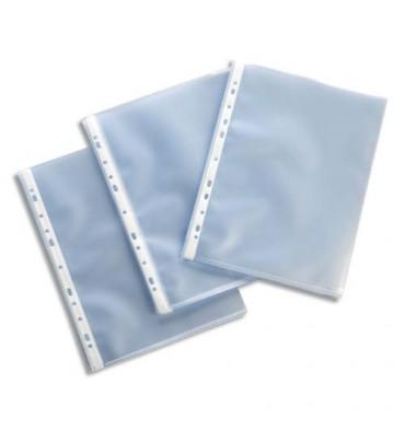 ESSELTE Boîte de 100 pochettes perforées A4 polypropylène lisse 11/100e incolore