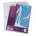 ELBA Sachets de 10 pochettes perforées en polypropylène 9/100e, format A4, transparent