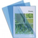 EXACOMPTA Boîte de 100 pochettes coin en PVC 13,5/100e. Coloris bleu