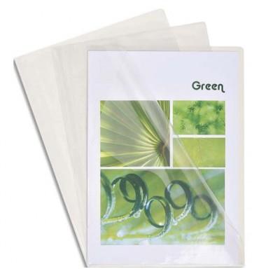 EXACOMPTA Boîte de 100 pochettes coin en PVC 13/100e, coloris cristal