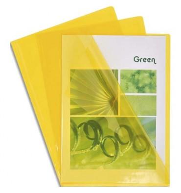 EXACOMPTA Boîte de 100 pochettes coin en PVC 13,5/100e. Coloris jaune