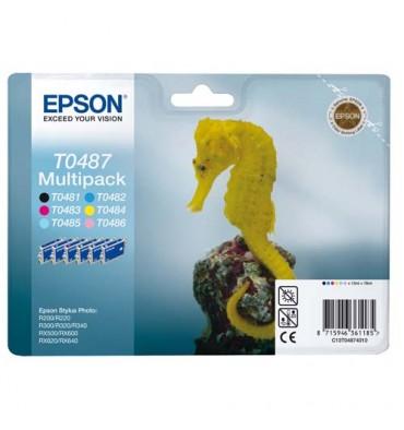 EPSON Pack de 6 cartouches couleurs jet d'encre T0487401