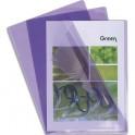 EXACOMPTA Boîte de 100 pochettes coin en PVC 13,5/100e. Coloris parme