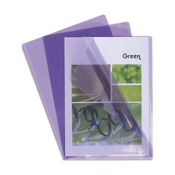 EXACOMPTA Boîte de 100 pochettes coin en PVC 13/100e, coloris parme