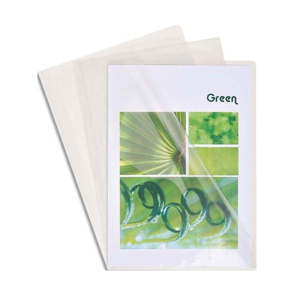 EXACOMPTA Boîte de 50 pochettes-coin en PVC 20/100e, coloris cristal