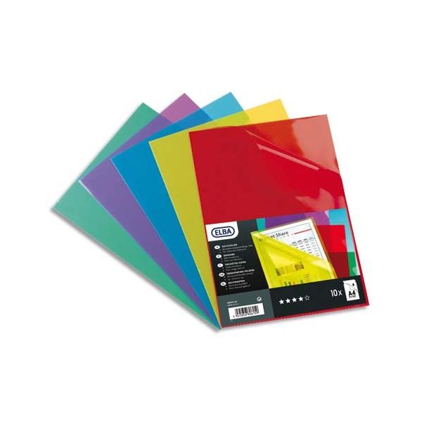 ELBA Boîte de 100 pochettes-coins en PVC 15/100e, coloris assortis