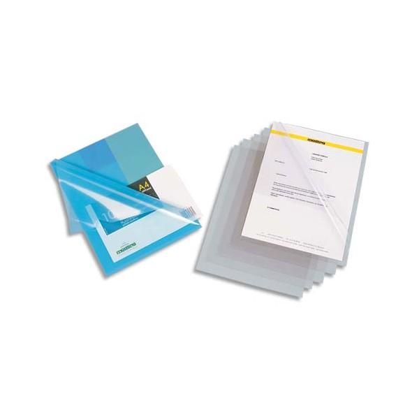 OXFORD Boîte de 100 pochettes-coins en PVC 15/100e, coloris incolore