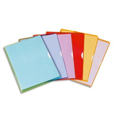 ELBA Sachet de 10 pochettes-coin Fard'liss jaune en PVC 20/100e