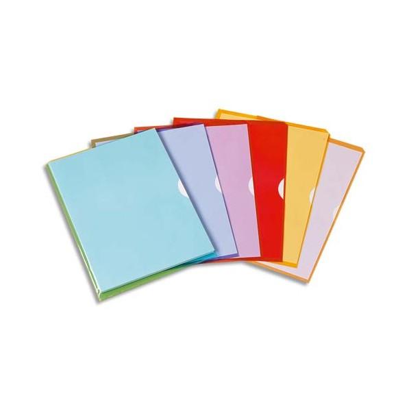 ELBA Sachet de 10 pochettes-coin Fard'liss rouge en PVC 20/100e