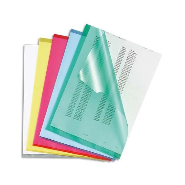 5 ETOILES Boîte de 100 pochettes-coin coloris assortis en polypropylène 12/100e, coloris assortis (photo)