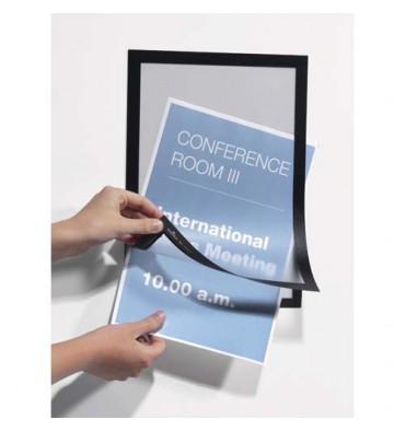 DURABLE Sachet de 2 cadres d'affichage magnétiques Duraframe®, format A3, coloris noir