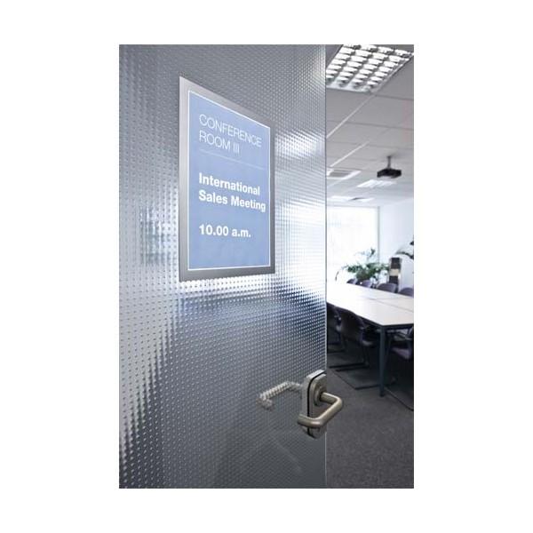 DURABLE Sachet de 2 cadres d'affichage magnétiques Duraframe®, format A3, coloris gris argenté