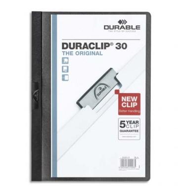 DURABLE Chemise de présentation à clip DURACLIP. Capacité 30 feuilles. Coloris noir