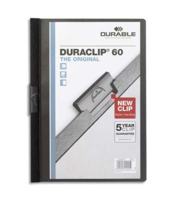 DURABLE Chemise de présentation à clip DURACLIP. Capacité 60 feuilles. Coloris noir