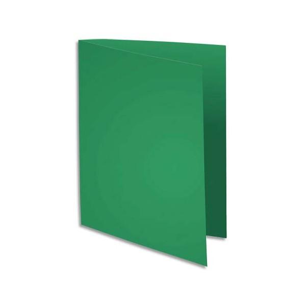 EXACOMPTA Paquet de 100 sous-chemises FLASH en carte recyclée 80g, coloris vert foncé