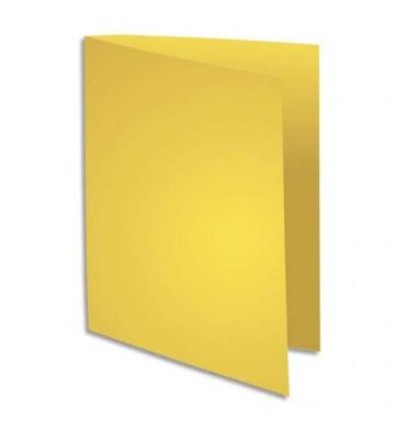 EXACOMPTA Paquet de 100 sous chemises 80g FLASH format A4 100% RECYCLE jaune