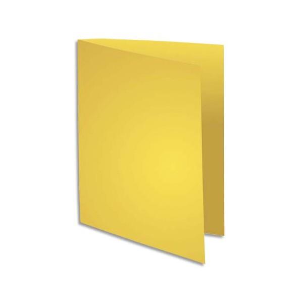 EXACOMPTA Paquet de 100 sous-chemises FLASH en carte recyclée 80g, coloris jaune