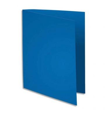 EXACOMPTA Paquet de 100 sous-chemises FLASH en carte recyclée 80g, coloris bleu foncé