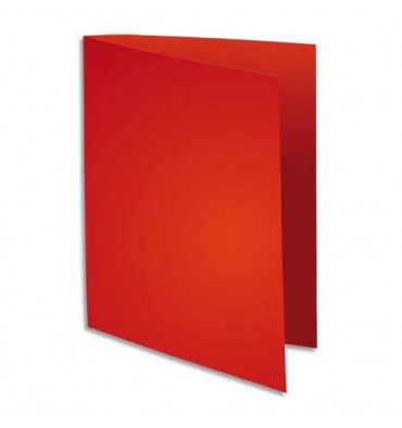 EXACOMPTA Paquet de 100 sous chemises 80g FLASH format A4 100% RECYCLE rouge