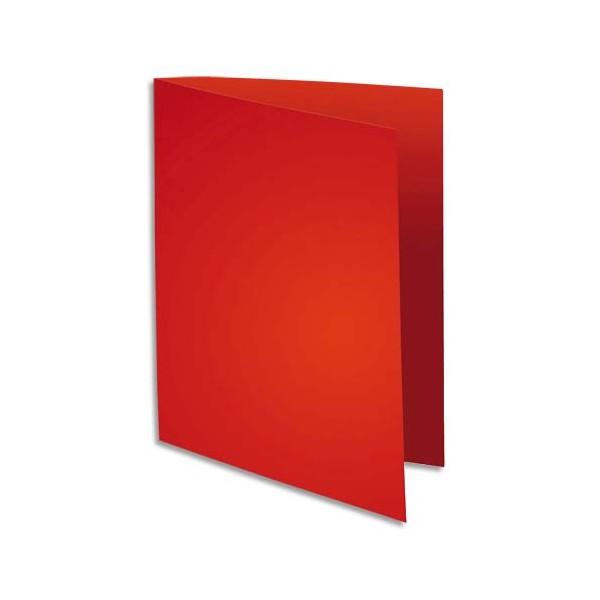 EXACOMPTA Paquet de 100 sous-chemises FLASH en carte recyclée 80g, coloris rouge