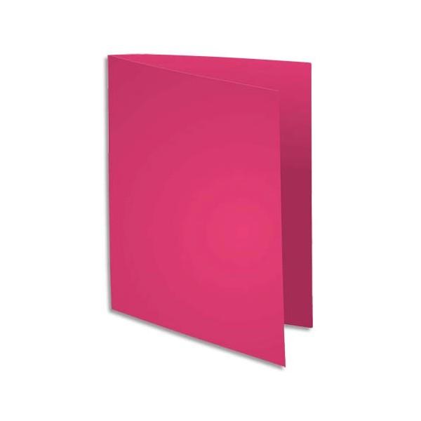 EXACOMPTA Paquet de 100 sous-chemises FLASH en carte recyclée 80g, coloris rose fuschia