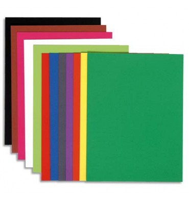 EXACOMPTA Paquet de 30 sous chemises 80g FLASH format A4 100% RECYCLE assortis