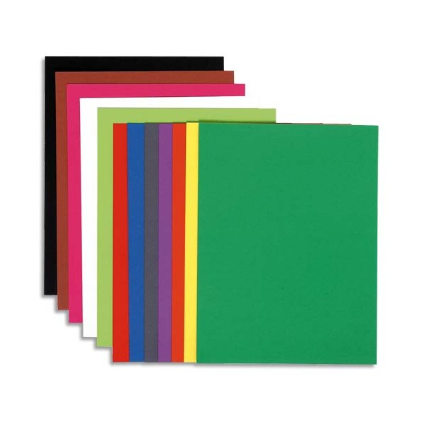 EXACOMPTA Paquet de 100 chemises FLASH 220 en carte recyclée 220g, coloris teintes vives assortis
