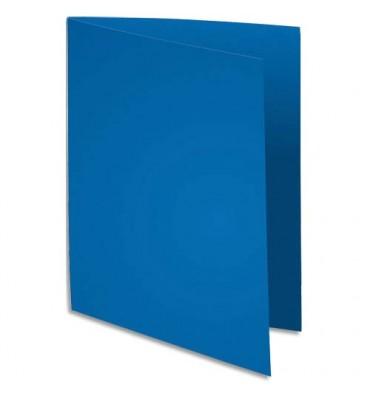 EXACOMPTA Paquet de 100 chemises Flash 220 teintes vives bleu foncé, format 320 x 240 mm