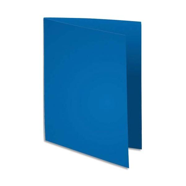 EXACOMPTA Paquet de 100 chemises FLASH 220 en carte recyclée 220g, coloris bleu foncé