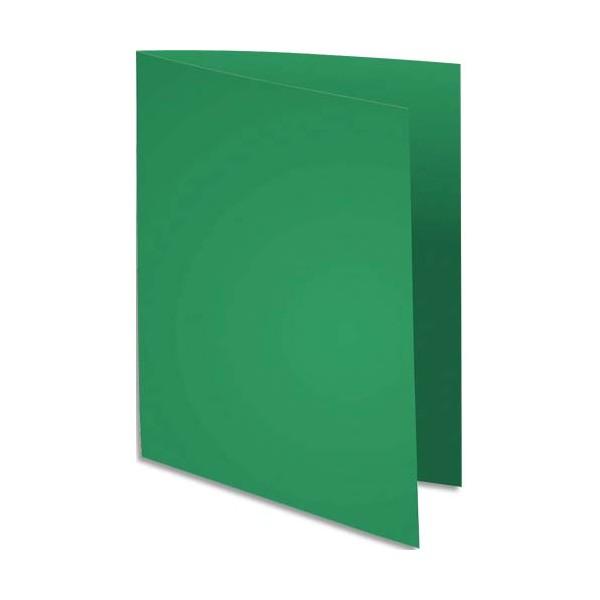 EXACOMPTA Paquet de 100 chemises FLASH 220 en carte recyclée 220g, coloris vert foncé