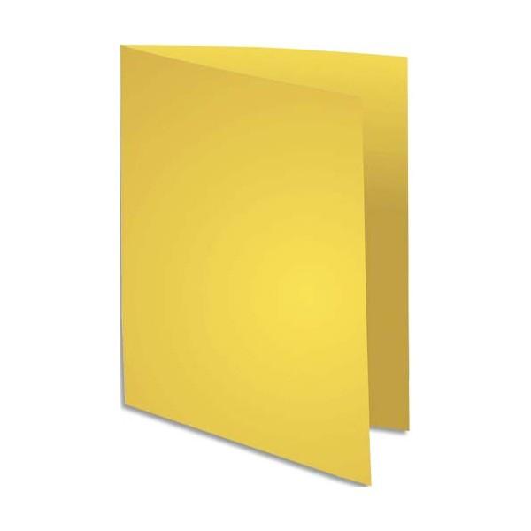 EXACOMPTA Paquet de 100 chemises FLASH 220 en carte recyclée 220g, coloris jaune