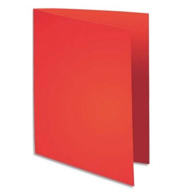 EXACOMPTA Paquet de 100 chemises Flash 220 teintes vives rouge, format 320 x 240 mm
