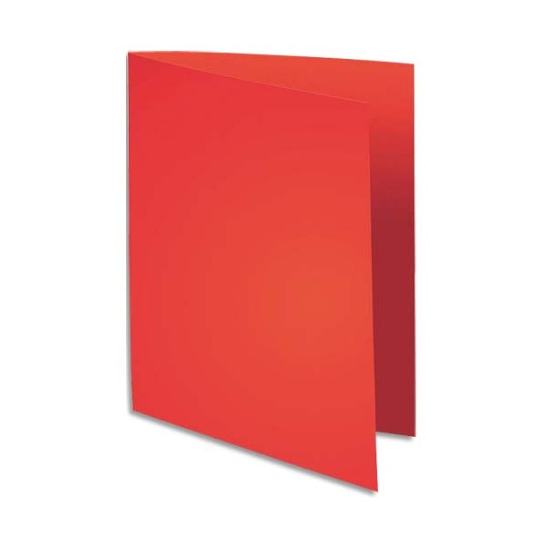 EXACOMPTA Paquet de 100 chemises FLASH 220 en carte recyclée 220g, coloris rouge