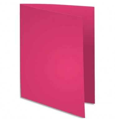 EXACOMPTA Paquet de 100 chemises Flash 220 teintes vives fuschia, format 320 x 240 mm