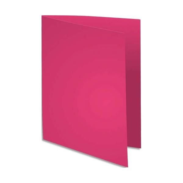 EXACOMPTA Paquet de 100 chemises FLASH 220 en carte recyclée 220g, coloris rose fuschia