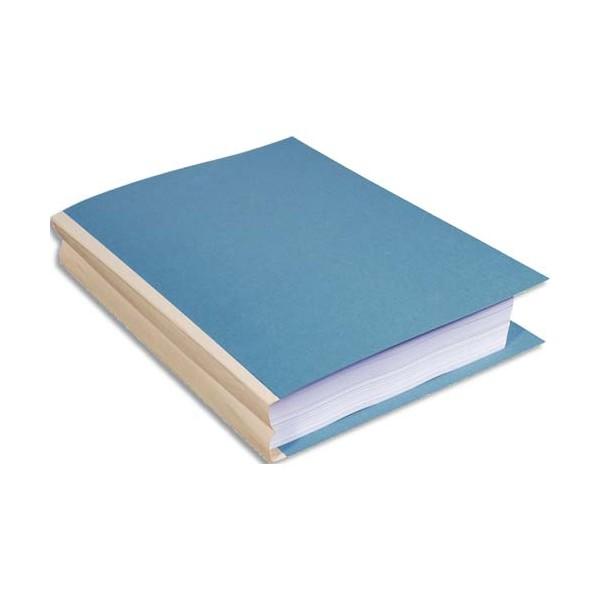 EXACOMPTA Paquet de 25 chemises à soufflet, carte 320g recyclée à 100% coloris bleu