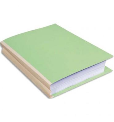 EXACOMPTA Paquet de 25 chemises à dos toilé, carte 320g, dos 3 cm, 24 x 32 cm, coloris vert