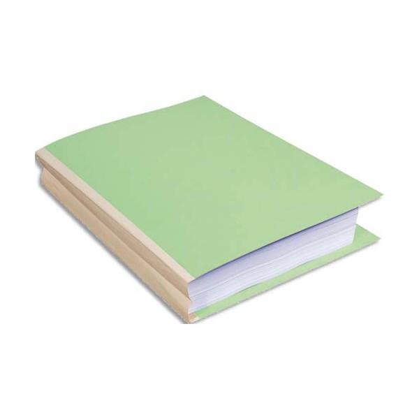EXACOMPTA Paquet de 25 chemises à soufflet, carte 320g recyclée à 100% coloris vert