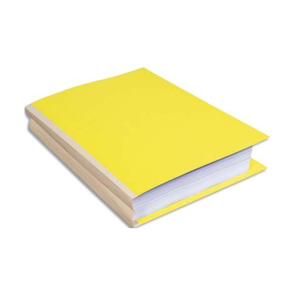 EXACOMPTA Paquet de 25 chemises à soufflet, carte 320g recyclée à 100% coloris jaune