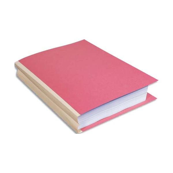 EXACOMPTA Paquet de 25 chemises à soufflet, carte 320g recyclée à 100% coloris rose