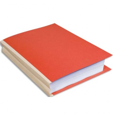 EXACOMPTA Paquet de 25 chemises à dos toilé, carte 320g, dos 3 cm, 24 x 32 cm, coloris orange
